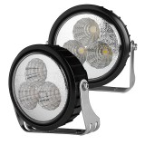 DRL-CW3-SM: 9 Watt Heavy Duty LED Auxiliary Light Kit - Round Set